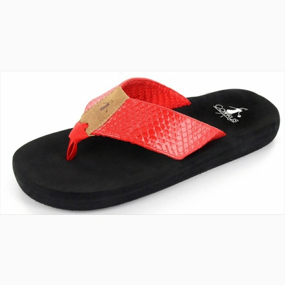 corkys Shoes - Corkys royal flipflops in red